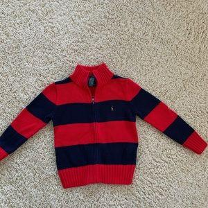 NWOT Polo Ralph Lauren Zip up Sweater- size 4T